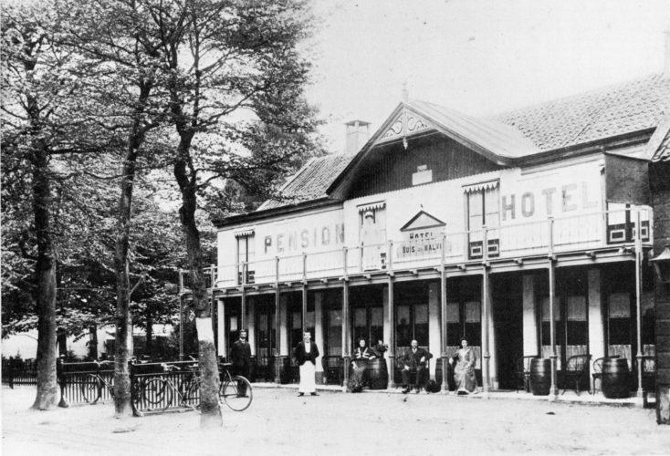Huis ten Halve omstreeks 1900